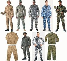 Military Camo BDU Tactical Combat Cargo Uniform  Tops & Bottoms Rothco