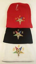 OES EASTERN STAR KNIT CAP - CHOICE OF RED, BLACK or WHITE - FREE  SHIPPING