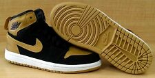 [705303-026] AIR JORDAN RETRO 1 HIGH PS PRE-SCHOOL MELO BLACK / GOLD SZ 11.5c-3Y
