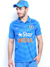 Nike Men Blue India Cricket Team 2015WorldCup ODI SS Stadium Polo T-shirt