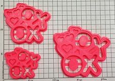 Valentines Day Hugs and Kisses XO - Cookie Cutter - Choice of Sizes - 3D Printed