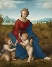 TIME4ART RAPHAEL SANTI Madonna in the Meadow GICLEE ART WALL Religion ALL SIZES