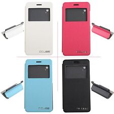 Protective Hard Cover Flip Stand Leather Case For Cubot x9 Screen Display Window