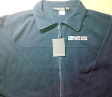 USPS POSTAL DUNBROOKE NAVY FLEECE JACKET EMBROIDERED POSTAL LOGO ON CREST S-3X