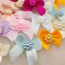 U pick  50pcs Mini Satin Ribbon Flowers Bows Gift Craft Wedding Decoration B0262