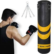 HTH 4/1.5m Heavy Duty Punch Bag Kick Punching Boxing Training Muay Thai Karate