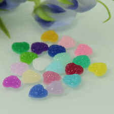 DIY 50 Pcs Candy Color Resin Heart Flatback Scrapbooking for Phone Wedding Craft