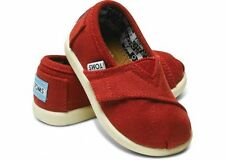 TOMS Tiny Toddler Red Classic Canvas All Sizes Available BNIB