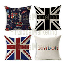 Union Jack Printed Home Decorative Retro Linen Pillow Case Throw Cushion Cover