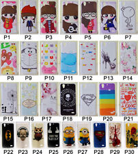 For Huawei Ascend G630 Soft TPU Animal Superman Girl Flower High Heel Case Cover
