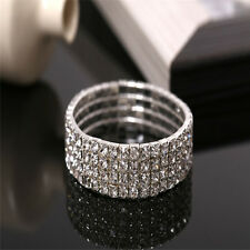 Glaring Crystal Rhinestone Stretch Bracelet Bangle Wedding Bridal Wristband