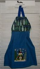 Snowman Trees For Sale Pine Trees Night  Hanging Kitchen Oven Dish Towel HCF&D