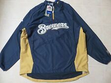 Majestic Mens Cool Base Convertible Gamer Jacket Brewers Philadelphia L 2XL NWT