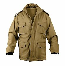 COYOTE BROWN Military Style Soft Shell Tactical M-65 Field Jacket Rothco 5244