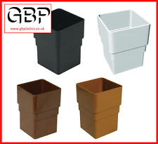 65mm Square Downpipe Connector Black, Brown, White, Caramel