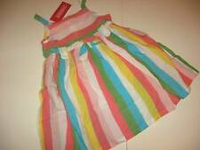 NWT Gymboree Happy Rainbow Colorful Striped Cotton Sundress Size 2T or 3T
