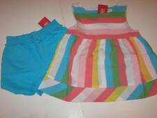 NWT Gymboree Happy Rainbow Striped Swing Top & Blue Shorts Set Sz 3T or 4T