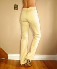 Escada Stretch Cotton Classic High Waist Trousers Sand Beige Pants EU38 / US 4-6