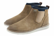 Lacoste Hadley STM Light Tan Chelsea Style Pull Up Original Suede Leather Boots