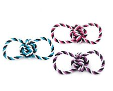DOG ROPE TOY ! Knot Ball Tug Toys For Dogs - 3 Colors & Sets Available Too !