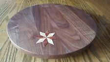 """LAZY SUSAN TURNTABLE/14""""SOLID BLACK WALNUT / QUALITY HAND CRAFTED IN USA"""
