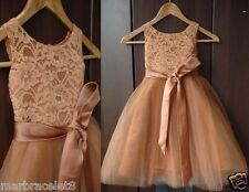 2014 Lace TUTU Flower Girl Dress Wedding Easter Junior Bridesmaid Dress