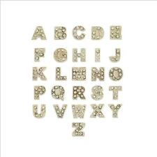 Gold Alphabet Letter Floating Charm yes fit Origami Owl Living Locket