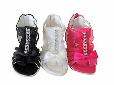 New Dress Black White Pink Girls Sandals Shoes Sz 11 12 13