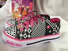 Skechers TWINKLE TOES SPUNKY STEPS Light-Up Sneaker GIRLS'S YOUTH Sizes NIBWT