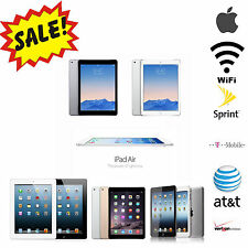 Apple iPad Air,Mini,2,3rd,4th|WiFi 3G/4G AT&T,T-Mobile,Verizon|16GB-128GB Tablet