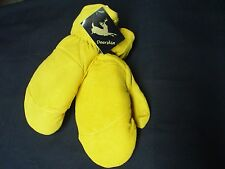 Gen Deerskin Chopper Mittens Yellow ButterSoft Suede Removable Liner #550 Gloves