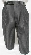 27-28-29 Mens Vintage Gray Hickory Stripe Morning Trouser Pant Victorian Dickens