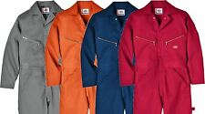 DICKIES Twill COVERALLS Sizes: Small-3XL 4 Colors- Red, Orange, Gray & Navy