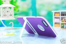 Apple iPhone 6 & 6 Plus Ultra Slim Dual Layer Purple Case Cover with Kickstand