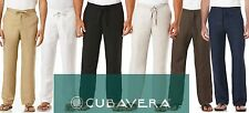 Men's Cubavera Linen Draw String Dress Pants With an Elastic Waist