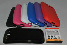 Samsung Galaxy S3/SIII Extended Battery + TPU Silicone Case i9300 T999 I747 I535