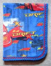 CRADLE/RECEIVING FLEECE BLANKET/HANDCRAFTED - LIGHTING MCQUEEN  CARS DRIFT STAR