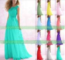New Design Chiffon Formal Lace Evening BallGown Party Prom Bridesmaid Dress 6-16
