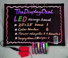 LED Illuminated Flashing Message Writing Board Display Business Menu Sign