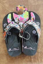 Montana West Kids Western Rhinestone Bling Flip Flops Wedge Sandals Flower SK18