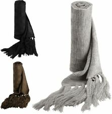 K-Up Jacquard Knitted Strickschal SCARF  Fransen WINTER  - 280 cm lang (2)