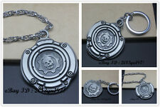 GEARS OF WAR 3 METAL Cog Tags  Necklace / Key Chain Free shipping