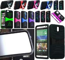 Phone Case With BUILT IN SCREEN PROTECTOR Faceplate For HTC Desire 610