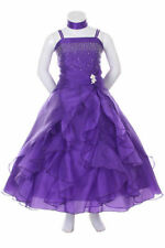 BRAND NEW ORGANZA FLOWER GIRL DRESS  WEDDING PAGEANT BRIDESMAID PROM PARTY