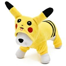 Pet Dog Clothes Pikachu Cute Yellow Sweater Hoodie Puppy Hoodie Cat Coat 5 Sizes