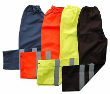 High Vis Hi Vis Visibility Work Safety Waterproof Over Trousers