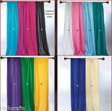 Fabric Sparkle Drapes SwagsTails Curtain Table Chair Overlay Wrap Party Wedding