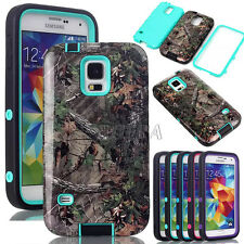 Rugged Glossy Camo Realtree Hight Impact Combo Case Cover For Samsung Galaxy S5