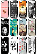 Famous Quote Saying Hard Phone Cases for Apple iPhone 4/4s & 5/5s & 5c