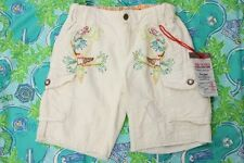 NWT Girls Da-Nang White DaNang Silk Woven Cargo Shorts 5 6 6X 7/8